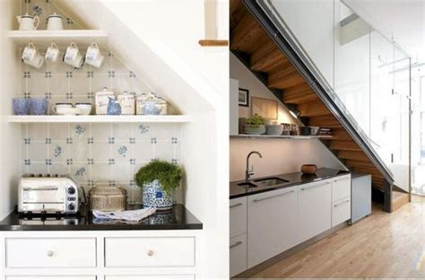 cuisine sous escalier 60 idées de rangement et aménagement sous l 39 escalier