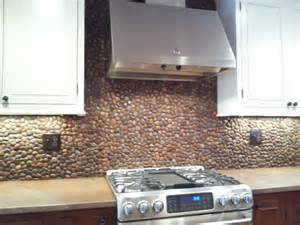 rock kitchen backsplash creative design river rock backsplash for kitchen decoration homesfeed