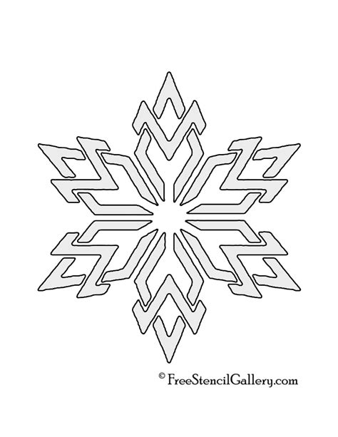 snowflake stencil   stencil gallery