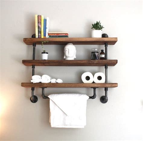 bathroom shelves industrial pipe shelf bathroom shelves kitchen shelves Industrial