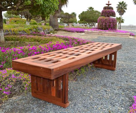 outdoors benches redwood lighthouse garden bench custom wood seating