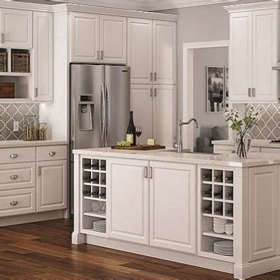 white cabinet kitchen design kitchen cabinets color gallery at the home depot 1262