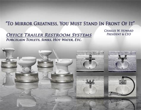 office trailer restroom systems porcelain toilets sinks