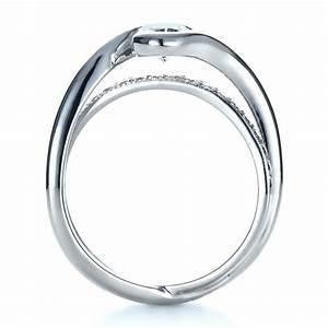 custom interlocking engagement ring 1437 With interlocking wedding rings
