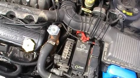 chrysler cirrus radiator hose repair diy youtube