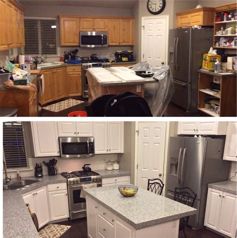 Maple Kitchen Ideas - diy painting kitchen cabinets white