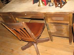 1612 antique wooden teacher s desk with swivel chair