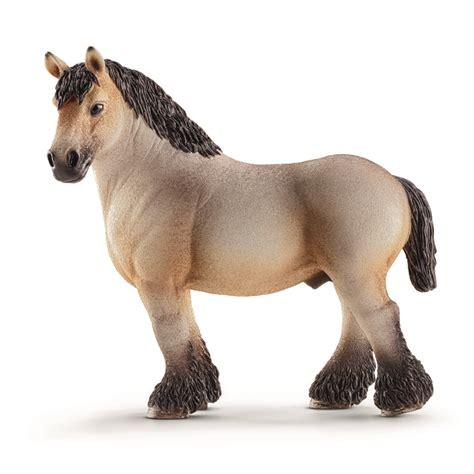 schleich ardennes stallion farm life horses toy figurine