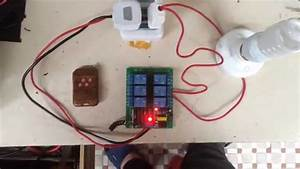 4 Way Rf Wireless Remote Controlled Electrical On  Off