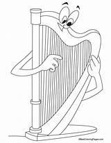 Harp Coloring Pages Harmonica Ireland Template Printable Bestcoloringpages Symbol Instruments Sheets Drawing Templates Results Omalovanky Kidsuki Hudebni Zdroj Pinu sketch template