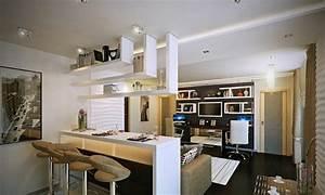 idee de cuisine ouverte pour un interieur convivial With cuisine ouverte avec bar