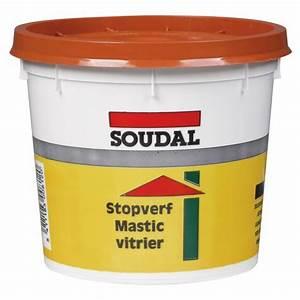 Mastic De Vitrier : mastic vitrier l 39 huile de lin couleur acajou soudal ~ Melissatoandfro.com Idées de Décoration