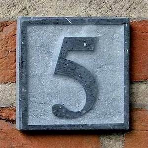 Plaque Numero Maison : plaque num ro de rue en pierre naturelle smal avec num ro de maison ~ Teatrodelosmanantiales.com Idées de Décoration