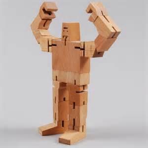 guthrie cubebot wooden robot with poseable limbs nova68 modern design