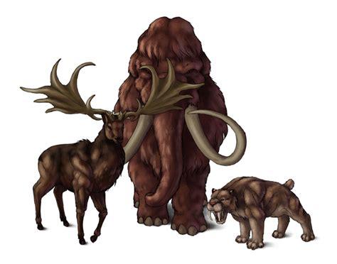 draw animals  great extinct mammals