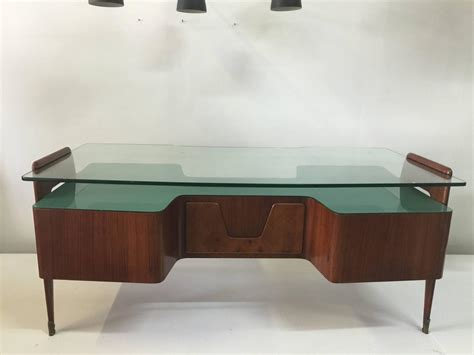 floating desk for sale rosewood desk by paolo buffa with floating glass top for