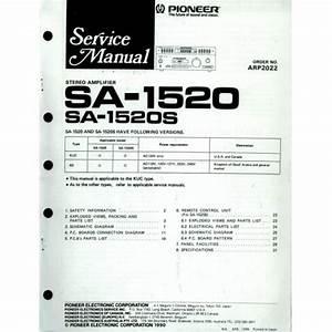 Pioneer Sa 1520s Amplifier Service Manual