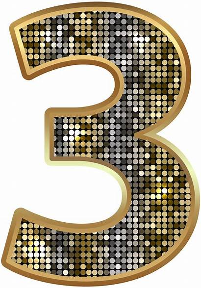 Number Clip Clipart Numbers Deco Three Decorative