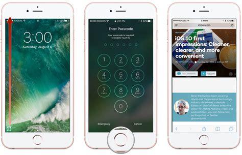 unlock iphone screen how to navigate the lock screen on ios 10 imore