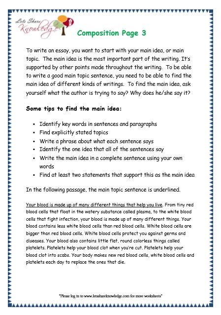 grade 3 grammar topic 43 composition worksheets lets