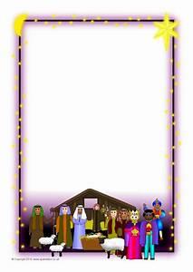 Christmas A4 Portrait Page Borders 2 SB3524 SparkleBox