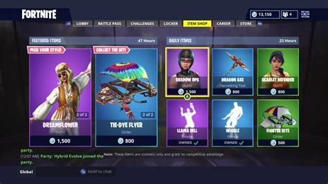 daily item shop today hippie skins fortnite
