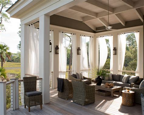 Outdoors Curtains :  13 Amazing Curtain Ideas For Porch And