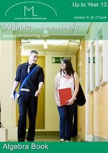 Algebra    The Way To Do It By R  M  O U0026 39 Toole S