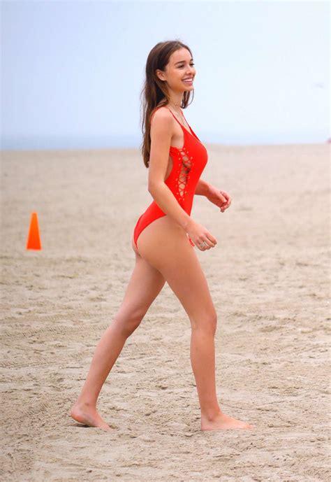 sophie mudd  red swimsuit   gotceleb
