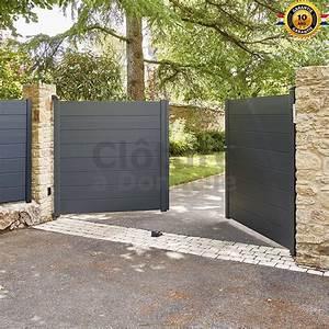 Portail 2 Battants : portail battant en aluminium par aluclos ~ Melissatoandfro.com Idées de Décoration