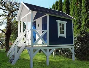 stelzenhaus holz schwedenhaus auf stelzen home With französischer balkon mit spielhaus für kinder garten