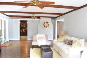 No Ceilings Youtube by Huzzah We Painted The Wood Trim In Our Living Room