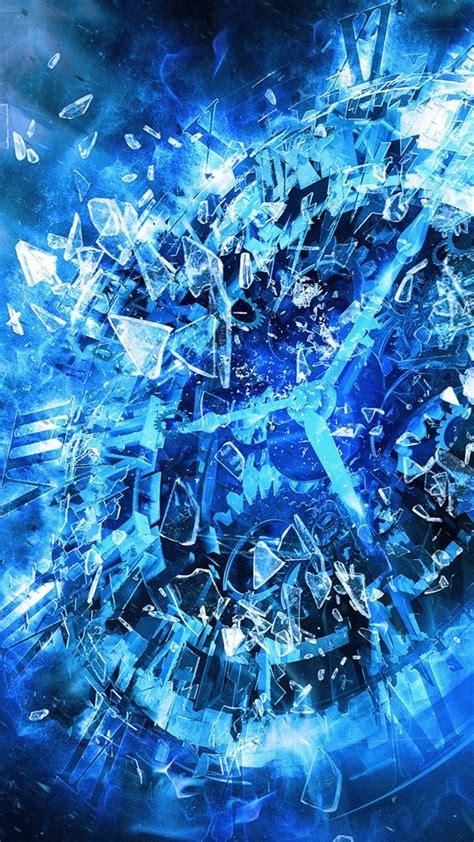 blue fantasy clock wallpaper