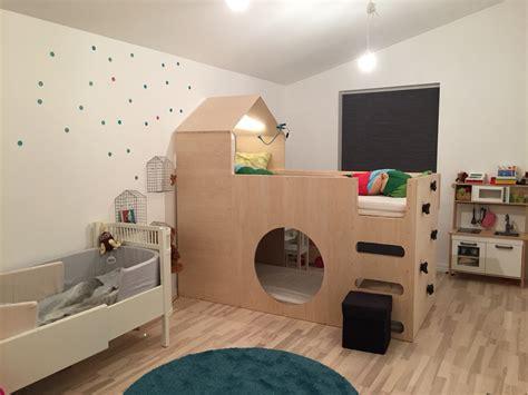 Ikea Hochbett Kinderbett by Tolles Kinderbett Aus Ikea Kura Bett Ikea Hacks