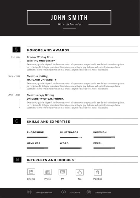 How To Fill White Space On Resume by Sleek Resume Template Trendy Resumes