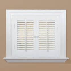 home depot wood shutters interior homebasics traditional faux wood white interior shutter