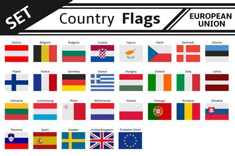 Set Countries Flags European Union