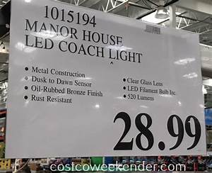 Costco Led Dusk To Dawn Light Manor House Vintage Led Coach Light Costco Weekender