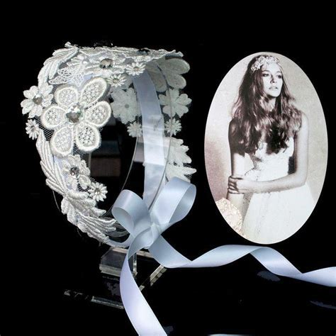 Flower Lace Headpiece Luxury Wedding Bridal Hair Band