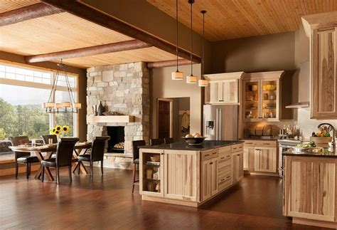 kitchen design and color top 25 best rustic hickory cabinets ideas on 4386