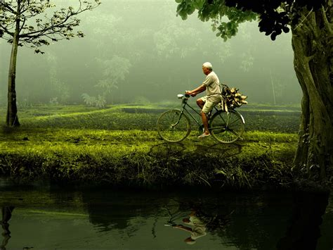 free photo man old bike nature green free image on