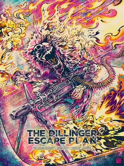 Escape Plan Dillinger Tsang Miles Poster Toronto
