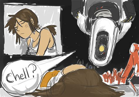 Quick Comic Portal 2 Chell By Superghostduck01 On