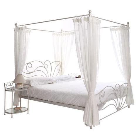 lit 224 baldaquin baroque blanc 2 personnes venezia achat vente structure de lit cdiscount