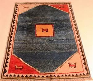 beau tapis persan ancien gabbeh 105 x 140 cm laine sur With tapis persan avec canapé convertible 140