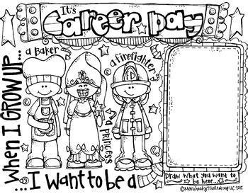career day coloring page freebie  melonheadz career