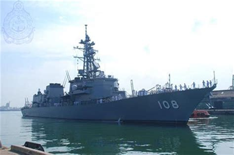 two japanese naval ships arrive at the port of colombo