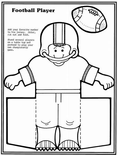 Football Player Template Cut Paper Cheerleader Bowl