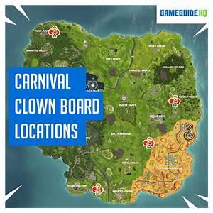 Fortnite Carnival Clown Board Locations Map