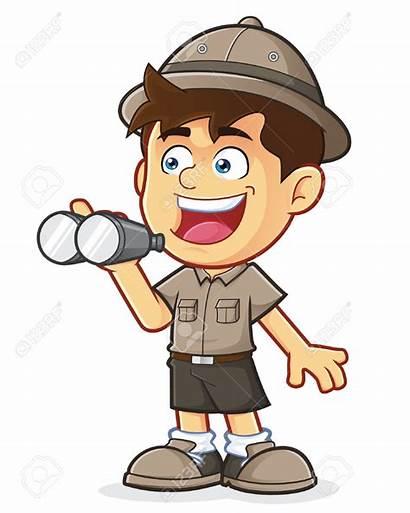 Clipart Adventurer Boy Explorer Animated Safari Clipground